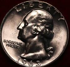 Uncirculated 1963-D Denver Mint Silver Washington Quarter