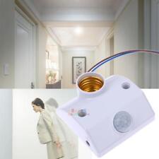 E27 220V Light Base Infrared Pir Body Motion Sensor Automatic Lamp Holder Switch
