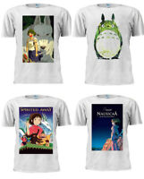 Princess Mononoke Spirited Away Totoro Anime Movies T Shirt Unisex White Tee 1