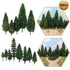 52pcs Model Pine Trees Green Plastic For Forest O HO TT N Scale Model Railway