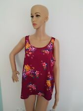 Womans Purple Floral Blouse From Atmosphere Size 14 Vgc