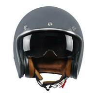 Motorcycle 3/4 Open Face Scooter Helmet Sun Visor DOT Cruiser Scooter M L XL XXL