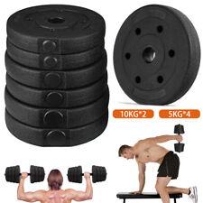 Profi Hantelscheiben Set 30mm 20 kg Gewichte Hantel Gusseisen Gewichte Scheiben