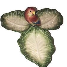 New ListingFitz Floyd Japan 1986 Tropical Love Bird Parrot Condiment Bowls Platter Rare