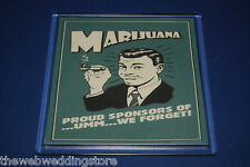 Smoking - Pot - Fun Hippy Coasters - 3 different in the set - Great Gift - FUN