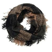 New Collection 18 Woven Infinity Loop Circle Wrap Around Scarf w/ Fringe $36 Tgs