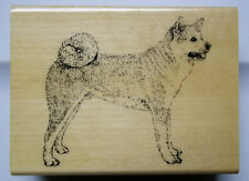 Akita Dog  Wood-mounted Rubber Stamp Stamp Gallery  New