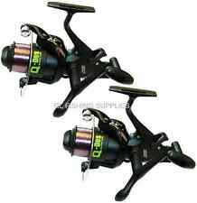2 x Q-DOS POWER RUNNER CARP FISHING REELS WITH 10LB LINE