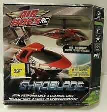 AIR HOGS R/C Helicopter Gyroblade - 3 Channel Metal 6 Way Control Open Box New