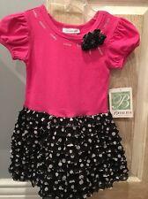 New Bonnie Jean Dress, Girls, Pink, Black Tutu, Short Sleeve, Size 3