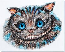 """Bead Embroidery DIY Kit """"Cheshire cat"""" 12.6""""х10.6"""""""