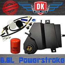 6.0 Ford Powerstroke Black Coolant Filtration Kit Degas Bottle Overflow Aluminum