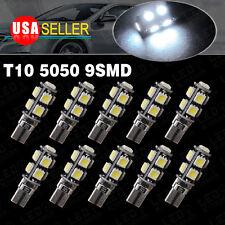 10X T10 9-SMD Xenon White LED Free Error Canbus Glove Box Light Bulb W5W 168 194