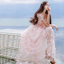 Vintage Mori Girl Sweet Lolita Elegant Flowers Embroidery Fairy Princess Dress