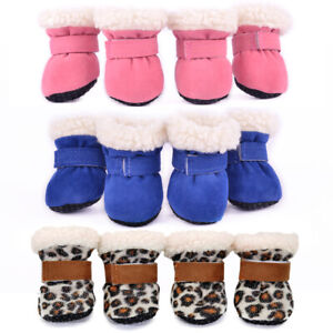 Warm Pet Dog Winter Shoes Puppy Boots Anti-slip For Small Dog Pet Snow Booties