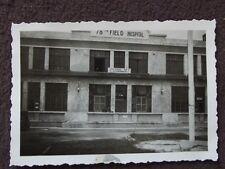 WW2 ENTRANCE TO U.S. ARMY 78th FIELD HOSPITAL, GERMANY  VTG 1940's PHOTO