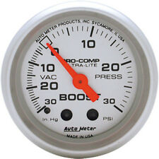 "AutoMeter 52mm Ultra Lite Vac / Boost Mechanical Gauge 2 1/16"" 30 In.Hg / 30 Psi"