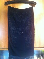 BNWT BLACK LIPSY LINED CAVIAR EMBELLISHED PENCIL SKIRT SIZE 12 RRP £38
