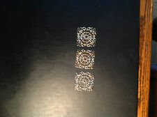 Square Filigree Findings...50 pieces..gold platings bendable Free Shipping USA