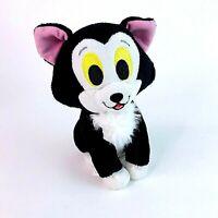 "Rare Disney Pinocchio Figaro Kitten Cat 7"" Plush Toy Black Cat Toy Disney Store"