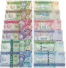 Turkmenistan 1-5-10-20-50-100 Manat 2017 Unc pn 35a-36a-37a-38a-39a-40a