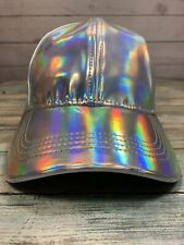 Marty McFly Hat Back To The Future Curved Bill Silver Iridescent Cap Replica