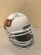 Jacob Lacey Signed Oklahoma State Cowboys Mini Helmet COA