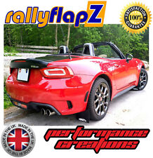 rallyflapZ FIAT 124 SPIDER Qty4 Mud Flaps & Fixings Black aBarth Logo - 4mm PVC