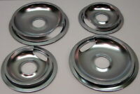 """Drip Pans & Rings Set for Vintage GE and Hotpoint Ranges 2/6"""" & 2/8"""""""