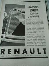 Publicité advertising 1931  Renault Nervastella 8 cylindres
