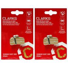 Clarks SEMI-METALLICHE Prestazioni Pastiglie dei Freni a Disco Shimano SAINT set di 2009 - 2