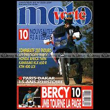 MOTO VERTE N°225-b HONDA 750 AFRICA TWIN MAICO 250 GS KTM EXC KAWASAKI KDX 1993