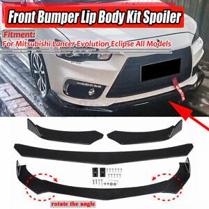 For Mitsubishi Lancer Evolution Eclipse EVO Front Bumper Lip Spoiler Splitter AU