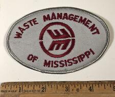 Vintage Waste Management Of Mississippi Patch Garbage Truck Trash Collection