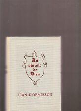 Au plaisir de Dieu Jean d'Ormesson cercle du nouveau livre