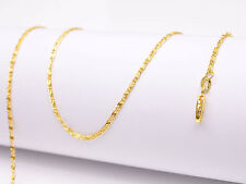 Chain Flat S Gf Necklaces For Pendant 1Pcs 16inch Jewelry 18K Yellow Gold Filled
