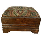 Antique Sikes Chair Co. Empire Footstool Ottoman Tapestry Reupholster