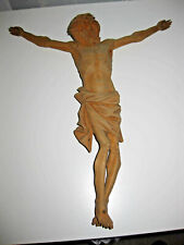 Corpus Christus ohne Kruzifix, Kreuz, Holz, Jesus 31cm, um 1880, TOP 124