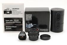 【MINT w/Case】Voigtlander Super Wide Heliar 15mm F4.5 Aspherical Lens (370-E327)