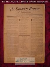 RARE SATURDAY REVIEW August 16 1924 E. M. FORSTER Rebecca West Louis Untermeyer