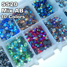 10 colors SS20 DMC Hot Fix Rhinestones HotFix stone Garment Crystal Glass
