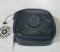 Kipling Metallic Jewelry Case Steel Grey Metal New