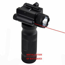 Tactical Hand Fore End Grip Foregrip With 500 Lumen Light Lamp/Red Laser Sight