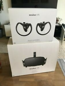 Oculus Rift + Touch Virtual Reality Headsets with Touch Controllers - Black...