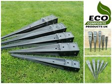 More details for saddar eco composite drive in square post anchor fence spike support