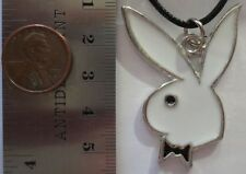 48mm x 35mm - White Playboy Bunny - PENDANT NECKLACE CHOKER CHARM