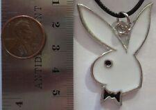 48mm x 35mm - White Playboy Bunny - PENDANT NECKLACE CHOKER CHARM