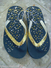 Girls Size 1 - 2  * OLD NAVY *  Shiny Platform Flip Flops Thong Sandals NWT