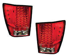 2005-2006 Jeep Grand Cherokee LED Tail Light Pair Ruby Red