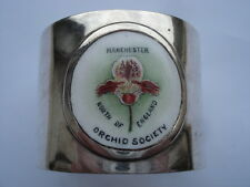 C1910 MANCHESTER NORTH OF ENGLAND ORCHID SOCIETY ENAMEL NAPKIN RING